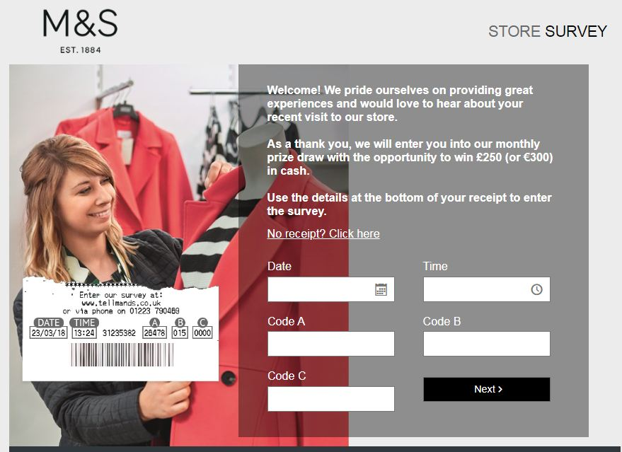 M&S survey