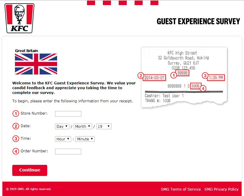 KFC survey UK
